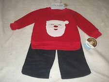 NEW CHILD OF MINE CHRISTMAS OUTFIT INFANT BOYS 3-6 MO /SANTA