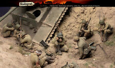 1/35 Scale Resin Figure kit WW2 Russian infantry Under Fire, Big Set 8 figures