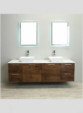 "EVIVA 72"" LUXURY DOUBLE SINK BATHROOM VANITY IN ROSEWOOD FINISH"