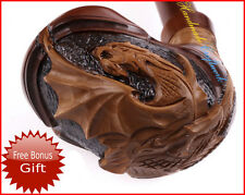 """DRAGON"" DIFFICULT Hand Carved Tobacco Smoking Pipe / Pipes Pfeife Pipa + GIFT!"