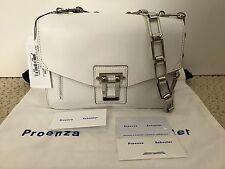 NWT Auth Proenza Schouler Hava Chain White Leather Shoulder Bag Handbag $1850