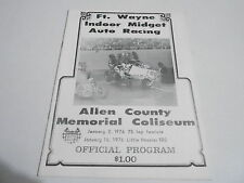 #MISC-2828 vintage car racing program - JAN 2 1976 FT WAYNE MIDGET RACING
