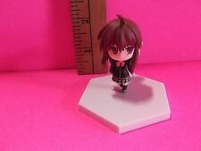 """Little Busters Cute 2""""in Mini Figure with Red Eyes Darling Checkered Skirt"""