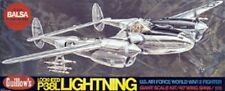P-38 Lockheed Guillows #2001 Wood Model Airplane Kit, Rubber Powered
