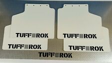 Genuine Tuffrok Range Rover classic Mud Flap vehicle set 1981 Gloss white