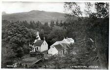 Langleeford Wooler unused sepia RP old postcard Valentines