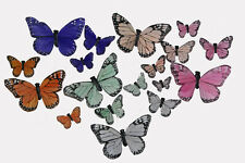 36 Assorted Artificial Butterflies Fake Floral Wedding Butterfly Pastel F
