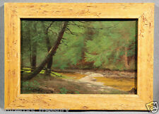John Bunyan Bristol American Oil Painting Landscape Forest Seen with Stream