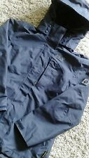 JACK WOLFSKIN TEXAPORE LADIES SIZE 8 HOODED COAT IN NAVY BLUE WATERPROOF NEW
