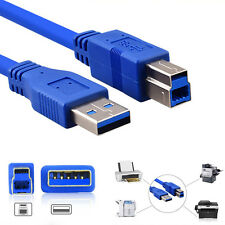 3M LONG High Speed USB 3.0 Type A Male to B Male Data Cable For Printer Scanner