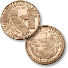 California Diversity Gold Rush Challenge Coin 49er State Seal CA Discovery Ore