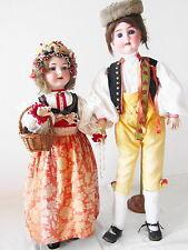 PUPPEN PAAR 2 x Porzellankopf Puppe A&M 390n P&R 1907 Plass Rösner doll 85+75 cm