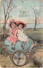 BG9160 girl child egg in chart  children  ostern easter greetings  germany