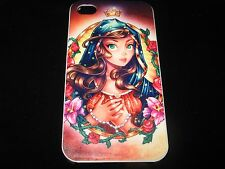 Lady Guadalupe Style Hard Cover Case for iPhone 4  4s New Roses / Crown Case