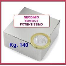 MAGNETE 50x50x25 mm. Gauss 13800 Magnetoterapia Acqua Magnetica NEODIMIO Bio