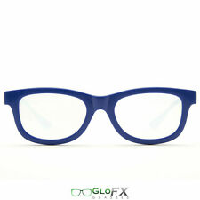 Blue Diffraction Glasses Rave EDM 3d Prism firework rainbow defraction