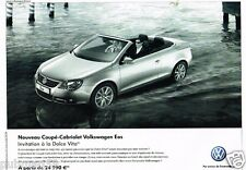 Publicité advertising 2007 VW Volkswagen Coupé cabriolet Eos