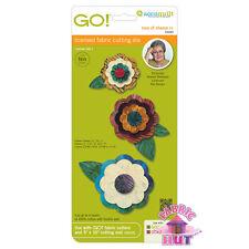 55045-AccuQuilt GO! Big & Baby Rose of Sharon Fabric Cutting Die Applique Flower