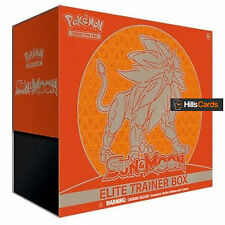Pokemon sun & moon elite trainer box-solgaleo-booster packs + énergie cartes