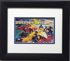"""LeRoy Neiman """"Indy Time Trials"""" CUSTOM FRAMED Print Indianapolis 500 Formula one"""