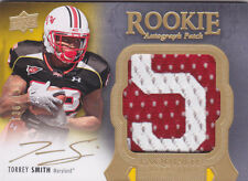 2011 Exquisite Collection #140 Torrey Smith Auto Patch RC #130/135