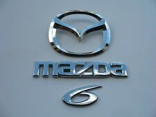 2005 MAZDA 6 WAGON REAR CHROME EMBLEM LOGO BADGE SYMBOL SIGN OEM SET 04 06 07 08