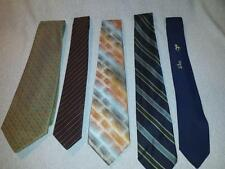 Vintage Mens Ties LOT WIDE SKINNY NARROW MAD MEN VARIOUS DESIGN NECKTIES TIES