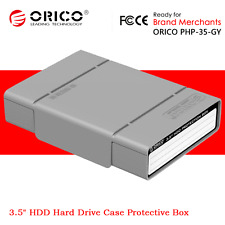 """ORICO 3.5"""" HDD Hard Disk Drive Protection Enclosure Case Cover Storage Box Gray"""