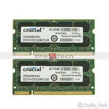4GB 2x2GB 2Rx8 PC2-6400 DDR2-800 SODIMM 200pin Laptop Memory NON-ECC Unbuffered