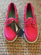 BNWT Nautical Raspberry Pink Canvas Boat Shoes Us Size 12M Uk 10.5 28.5