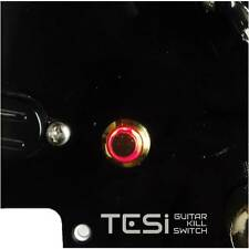 Tesi POCO 12MM LED Momentary Guitar Kill Switch Gold / Red