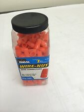 BOX OF 5 CONTAINERS IDEAL 30-073J WIRE CONNECTOR NUT, Orange Wire Nut 300 per