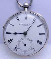 W.FLINN & SONS LONDON SILVER MECHANICAL KEY WIND POCKET WATCH CIRCA 1900