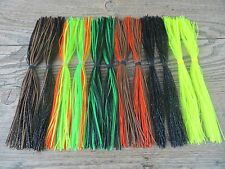 "LOT OF 12 - E&F TACKLE 7"" MUSKY TRAP JIG SKIRTS - REPLACEMENT BIG GAME JIG SKIRT"