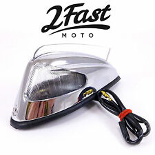 Honda Fender Marker Light w/ Fin Chrome Clear Motorcycle Cruiser Chopper Bobber