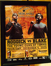 andy roddick & james blake the young guns of tennis poster both hand signed