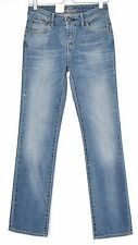 NEW Levis STRAIGHT LEG Demi Curve Medium Blue Mid Rise Stretch Jeans 8 W26 L32