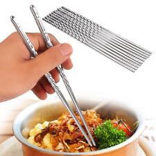 5 pair Stainless Steel Chopsticks Dishwasher Safe Light Non-slip Chop sticks TR