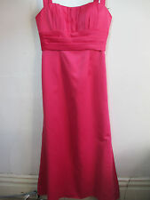 womens pink long dress size 12 sleeveless special occastion pleated women's