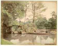 Japon, Tokio, palace garden vintage albumen print, Japan, 日本 Tirage albuminé a