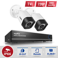 SANNCE 4CH 1080N 4in1 DVR 720P 1500TVL In/Outdoor IR Home Security Camera System