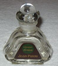 "Vintage Jean Patou Moment Supreme Perfume Bottle & Glass Stopper - 4 1/2"" Ht"