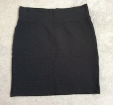LINDA LEAL TEENAGE BLACK SHORT STRETCH SKIRT WITH ELASTICATED WAISTBAND