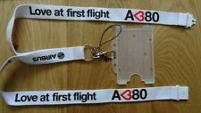 "AIRBUS A380 ""Love at first flight"" AIRLINE LANYARD, PASS & MEMORY CORD"