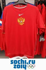 Men's Authentic T-shirt Russian Hockey Olympic Team Fans Sochi 2014 Russia Nike