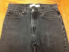 LEVIS 505 REGULAR FIT VINTAGE BLACK JEANS SIZE 31 x 31 Tag 31 x 32 EUC BEST V90