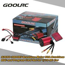GoolRC S3650 3900KV Brushless Motor +60A ESC +Program Card Combo for RC Car G6M2