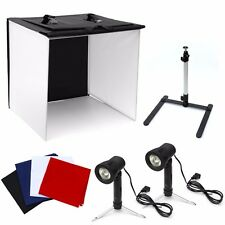 "Photo Studio 16"" Photography Light Tent Backdrop Kit 40cm Cube Lighting In A Box"