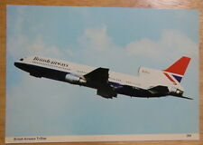 Postcard of BRITISH AIRWAYS Tristar from 1980s Unposted, VGC Aeroplane