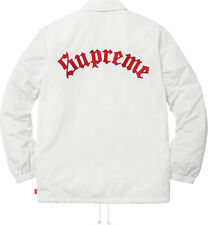 Supreme Old English Coaches Jacket White Size M In-Hand